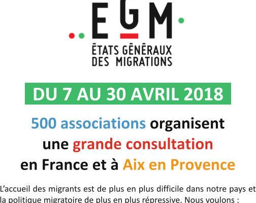 États Généraux des Migrations à Aix : Agir se mobilise