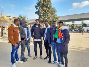 Demandeurs d'asile au match OM-Toulouse